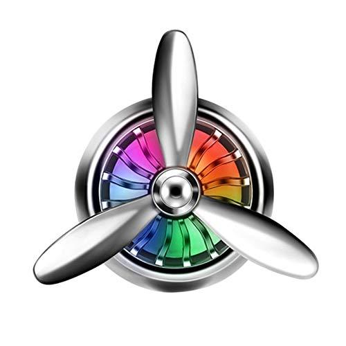 SHOP YJX Decoración de automóviles Ambientador Auto Decoración Aire Fuerza Aérea 3 Estilo de automóvil Solid Fragrance Clip Air Vent Perfume LED Lights Auto Parts, 1pcs (Color Name : Silver)