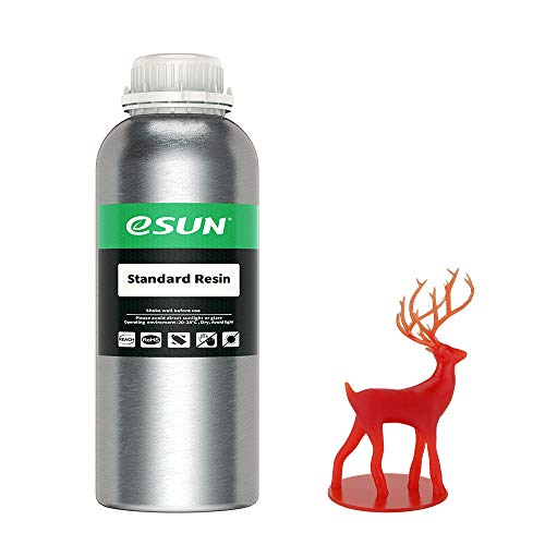 eSUN 405nm LCD 3D Printer Rapid Resin UV Curing Resin General Purpose Standard Resin Photopolymer Resin for Photon UV Curing LCD 3D Printer, 1000g Red
