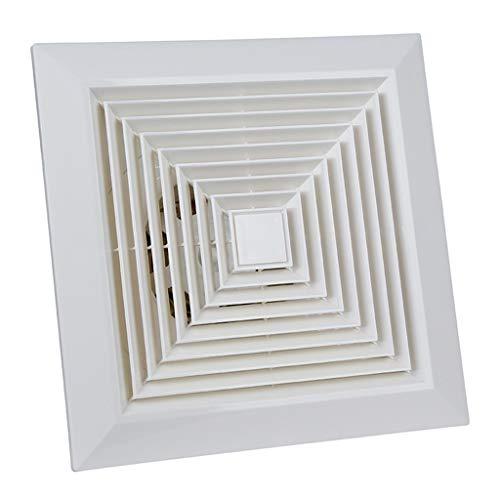 Abluftventilator Badlüfter Bad WC-Lüftungsanlage Abluftventilator Silent Duct White 200X200mm (Size : The opening size is 230x230mm)