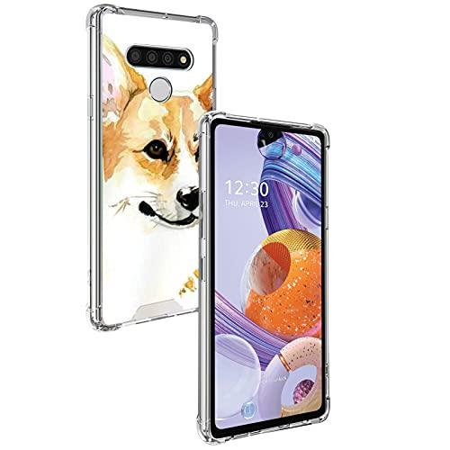 UZEUZA Carcasa transparente para LG Stylo 6, absorción de golpes, flexible, protección completa, transparente, antiarañazos, para LG Stylo 6