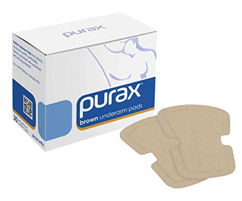 PURAX Underarm Pads - Sweat Shields 30pcs Brown