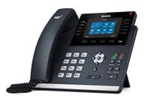 SIP-T46S Terminal con conexión por cable 16líneas LCD Negro teléfono IP