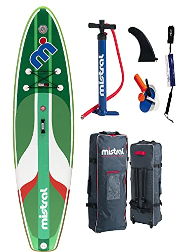 Mistral La Bamba 10'5' Single Chamber DSFL Technology, Stand up Paddle Board SUP gonfiabile con SUPwave.de Coil-Leash Stand up Paddle Board iSUP