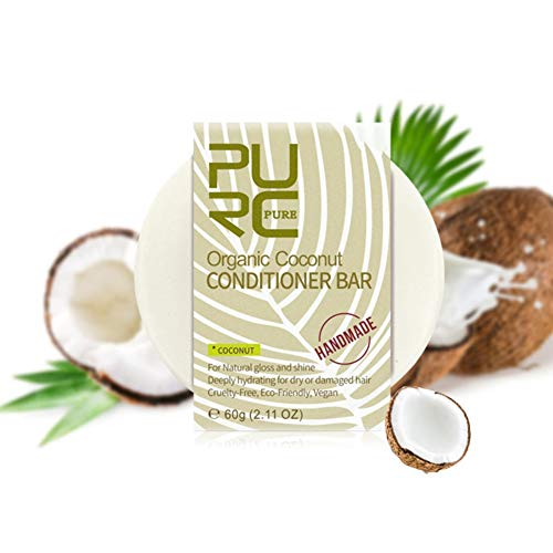 Wishwin Conditioner Bar Coconut Organic Solid Conditoner Bar Coconut Conditioner for Color-treated Hair, Hair Loss, Oily Hair