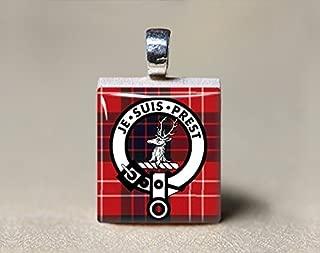Je Suis Prest - Fraser Clan Motto Scrabble Tile Pendant