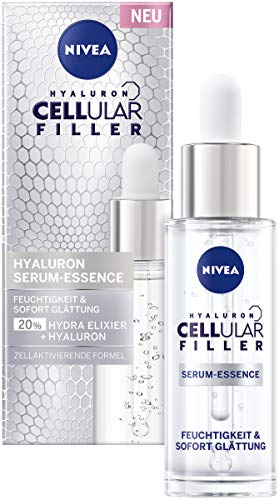NIVEA Cellular Filler Hyaluron Serum-Essence (30 ml), vorbereitendes Gesichtsserum, feuchtigkeitsspendendes Anti Age Hydra Elixier für geschmeidige Haut