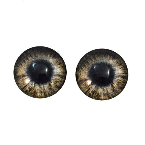 20mm marrn Zombie Ojos de cristal par, para fabricacin de joyera, muecas, Esculturas, colgantes, taxidermia, recuerdos, disfraces, accesorios, pinturas, y ms