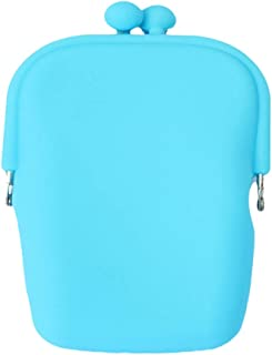 TOPBATHY Silicone Cosmetic Bag Jelly Color Cellphone Coin Purses Bag (Random Color)