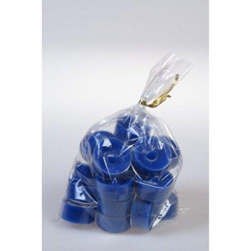 20 original Dänische Teelichter ohne Duft im Acryl-Cup farbig durchgefärbt marineblau