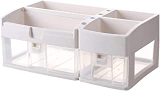 Luggage Cosmetic Cases Cosmetic Storage Box Transparent Color Shelf Drawer Desktop Multi-Layer Simple Household Glove Box Wash Dressing Table Finishing Rack (Color : Clear, Size : 38cm*21cm*32cm)