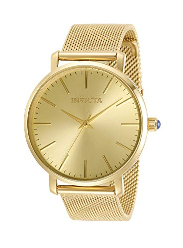 Invicta Women's Angel Quartz Watch with Stainless Steel Strap, Gold, 18 (Model: 31071)