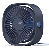 COMLIFE USB Desk Fan,360° Rotation Portable Fan,USB Operated Fan with 3 Speed &Powerful Airflow for Home Office