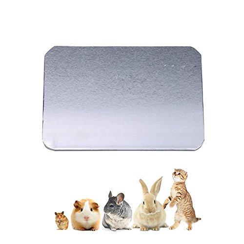 Amakunft - Almohadilla de refrigeración para mascotas pequeñas, para enfriar la cama de hielo de verano, 3 tamaños de alfombrilla de refrigeración para gatito, conejo, conejo, cobaya, hámster, chinchilla y otras mascotas