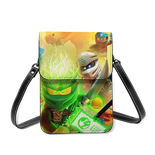 Señoras Niñas Diseño de Cuero Pequeño Crossbody Ninjago Bolso de Hombro Bolsos de Pulsera Bolso de Teléfono Celular