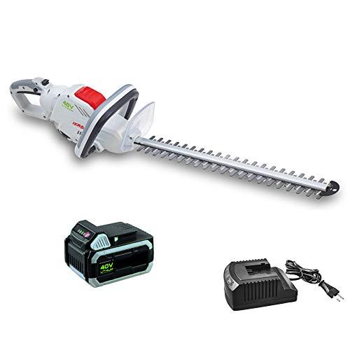 IKRA taille-haie sur batterie IAHS 40-5425 batterie et chargeur inclus, longueur de coupe 54cm, 40 Volt