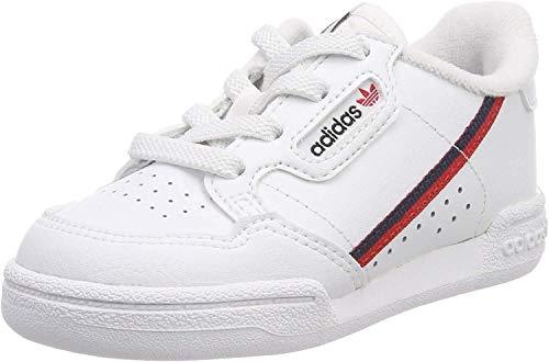 adidas Continental 80 I, Zapatillas de Estar por casa Unisex niños, Blanco (Ftwbla/Escarl/Maruni 000), 21 EU