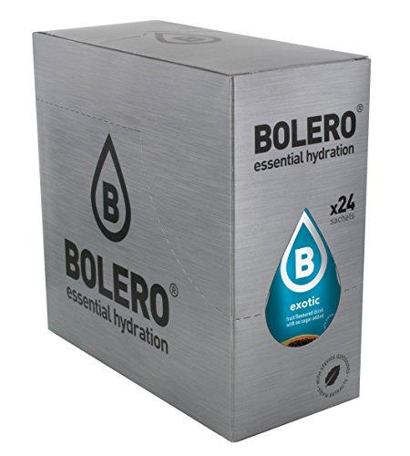 Bolero Bebida Instantánea sin Azúcar, Sabor Exótico - Paquete de 24 x 9 gr - Total: 216 gr