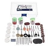 Nologo YO-TOKU Herramienta abrasiva, 103 piezas de 1/8 pulgadas de pulir brocas de corte para herramientas rotativas Dremel Shank Set de accesorios de herramientas abrasivas