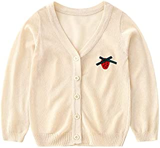 Girls Cardigan – Knit Summer Sweater for Toddlers Kids Summer Clothes Casual Ultra-Thin Coat