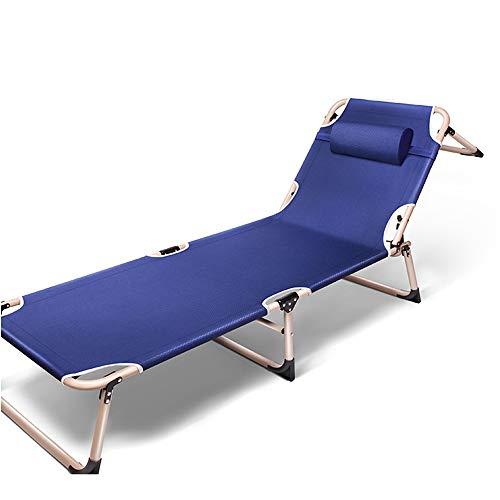 YQAD - Tumbona plegable de metal, portátil, para el hogar, oficina, jardín, patio, playa, al aire libre, 1