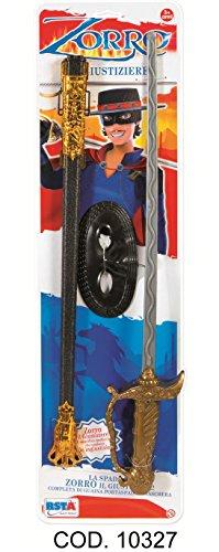 Varie- Bl. Zorro con Spada e Maschera, Colore Nero, 10327