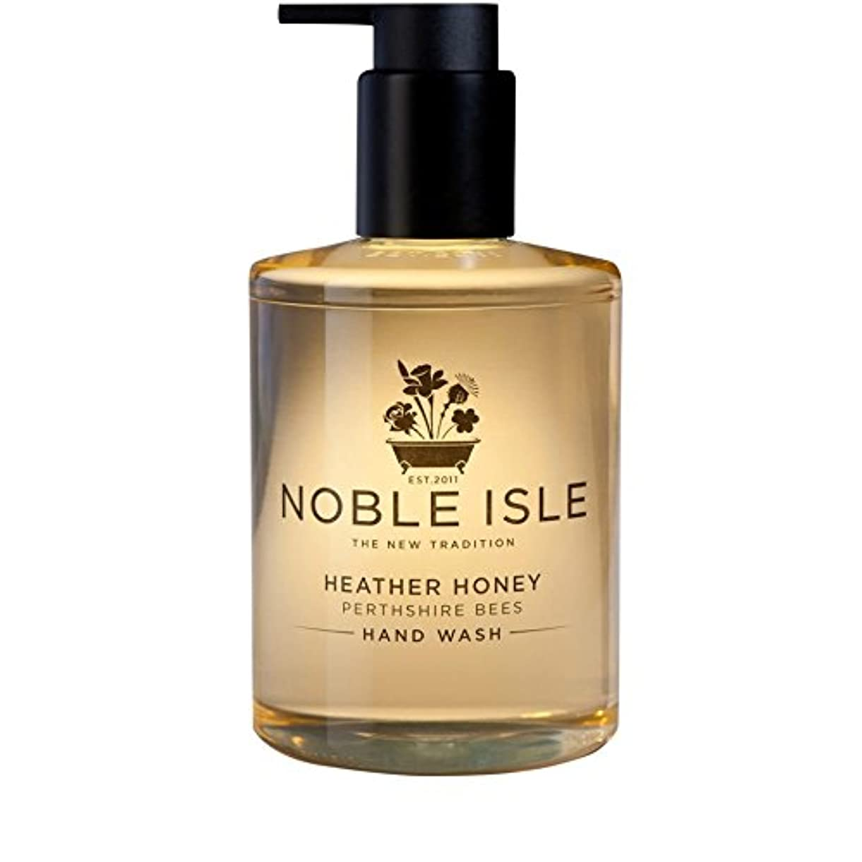 裏切り過言ライバル高貴な島杢蜂蜜パースシャー蜂のハンドウォッシュ250ミリリットル x4 - Noble Isle Heather Honey Perthshire Bees Hand Wash 250ml (Pack of 4) [並行輸入品]