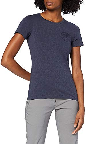 FJALLRAVEN Forever Nature Badge T-Shirt W Camiseta, Mujer, Navy, M