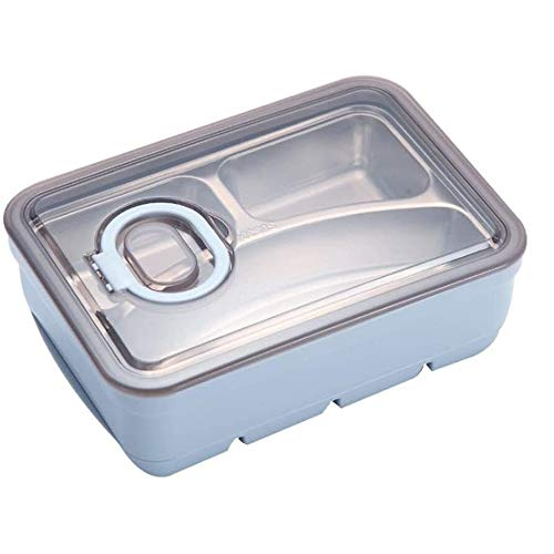 Lqpfx-fh Bento Box For Adults Stainless Steel, Double Layer Original Lunch Food Containers, Durable Leak-Proof Portable Layered Box For Tableware And Seasonings,Bento-Styled Lunch Solution Offers Dura
