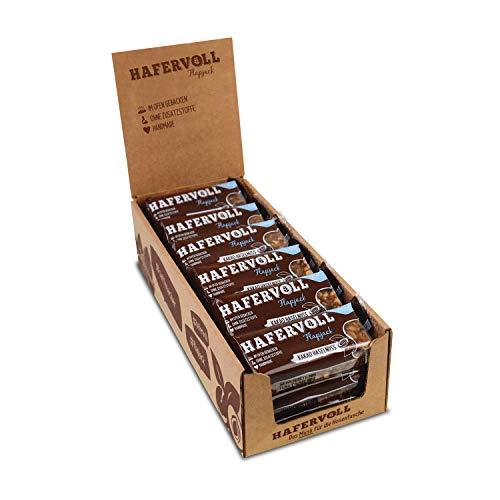 HAFERVOLL Flapjack Kakao Haselnuss, Müsliriegel (18 x 65g)