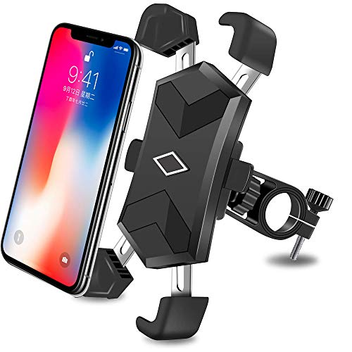 CHYBFU Universal Mobile Bike Holder with 4 Telescopic Arms, 360° Rotation Adjustable Phone Holder Bicycle Handlebar 1S Closure for iPhone&Android 4.5 and 7.2 Inches