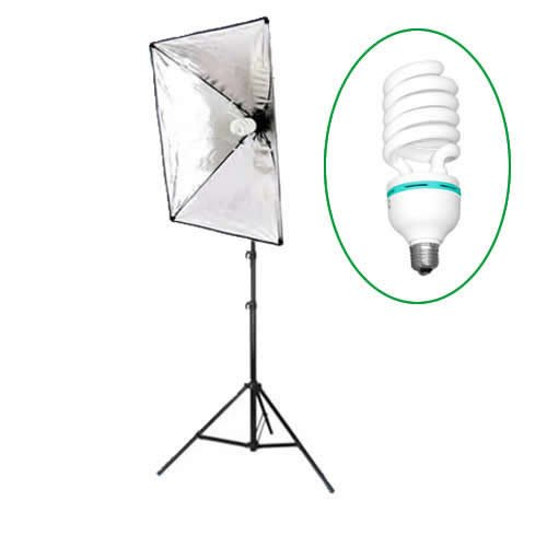 DynaSun SB1007-400 40 x 60 cm E27 verlichtingsset, studio-verlichting, softbox, professioneel, met statief en lamp 400 W, daglicht