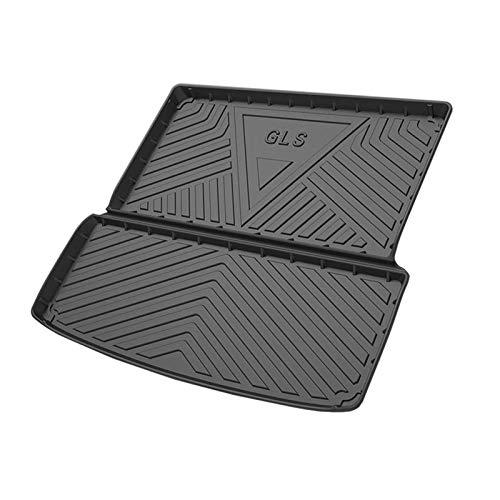 Coche Alfombrillas Maletero para Mercedes Benz GLS 2016-2020, Alfombrilla de Goma Antideslizante Impermeable para Asiento Trasero de Goma TPO, Accesorios para Maletero Trasero automático
