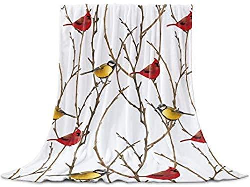 Manta de lana de franela, color amarillo y rojo, acogedora y cálida manta ligera para exteriores, viajes, sofá, cama, sofá, coche, 40 x 50 pulgadas