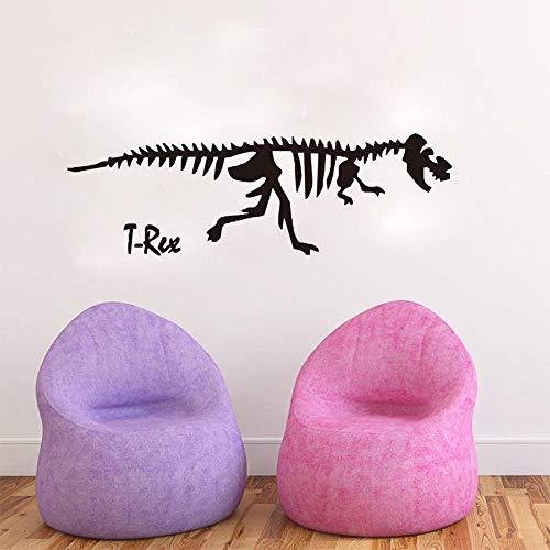 Dinosaurio esqueleto etiqueta de la pared de la habitación de los niños decoración de la sala de estar patrón dinosaurio animal salvaje etiqueta engomada de la pared A5 114x55cm