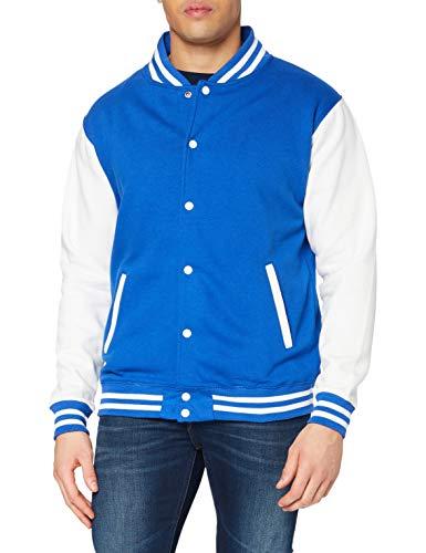 Just Hoods by AWDis Varsity Jacket Blouson, Bleu (Royal/White), XX-Large Homme