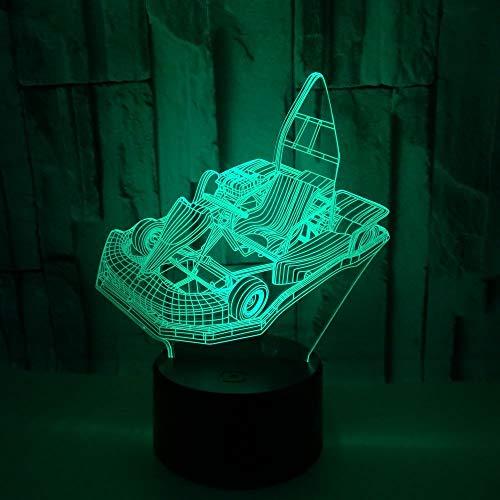 Jiushixw 3D acryl nachtlampje met afstandsbediening, tafellamp, kleurverandering, cultuurmannenlamp, visual installatie, fiets, IKEA lamp