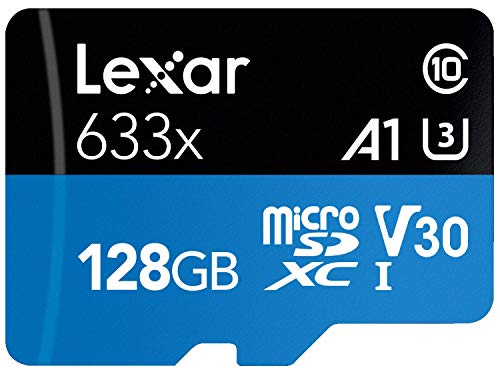 Lexar High-Performance 633x 128GB MicroSDXC UHS-I Card with SD Adapter (LSDMI128BBNL633A)