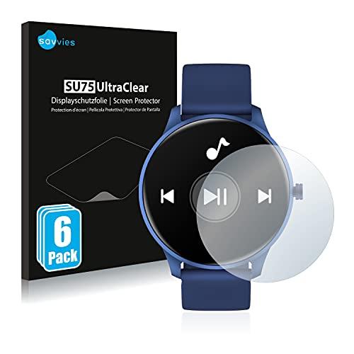 Savvies 6X Schutzfolie kompatibel mit Cubot W03 Displayschutz-Folie Ultra-transparent
