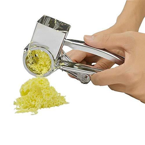 iloving Râpe à Fromage Rotative Manuelle | en Acier Inoxydable, Trancheur De Fromage, Gingembre Râpes à Beurre, Cutter Outils De Cuisine, Accessoires De Cuisi
