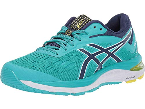 ASICS Women's Gel-Cumulus 20 Running Shoes, 10M, SEA Glass/Indigo Blue