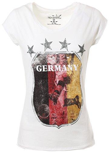KEY LARGO Damen T-Shirt WM-Print, Größe:XS, Farbe:1001 offwhite