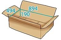 In The Box ダンボール 段ボール「衣類用J3(894×494×高さ190mm) 10枚」茶色