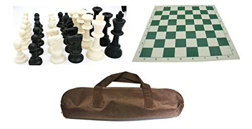 IDOPUZ️® Juego de ajedrez Staunton Tournament al Mejor Precio   Tablero Enrollable de 17