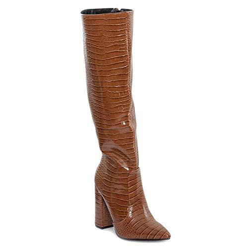 Toocool X8062 - Botas de mujer con punta de cocodrilo Marrón Size: 39 EU