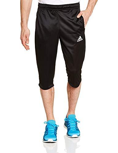 adidas Herren Shorts – Climalite für EIN angenehmes Tragen beim Sport – Sehr hoher Coref ¾ Hose für Männer – Trainingshose - Atmungsaktiv und leicht (Schwarz, L)
