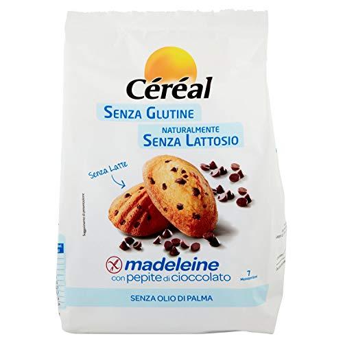 Céréal LE ORIGINALI Madeleine con Pepite di Cioccolato, merendine Senza Lattosio, Senza Latte, Senza Glutine - 210 g