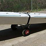 Alluminio Kayak Trailer Alluminio Kayak Staffa Portatile Pieghevole Rimorchio Ruota Gonfiabile Kayak Carrello - Nero