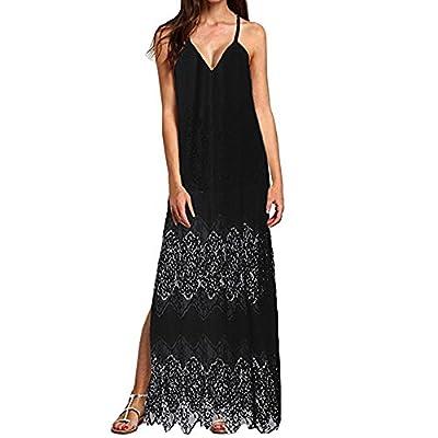 Muranba Womens Dresses Lace Boho Long Dress Lady Beach Summer Sundrss Maxi Dress