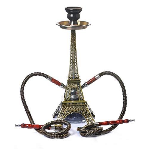 MISS YOU Huka Paris Turm Shisha Doppelrohr-Set-Arabien Shisha Set Glas Shisha Nacht Regen Bar Huka