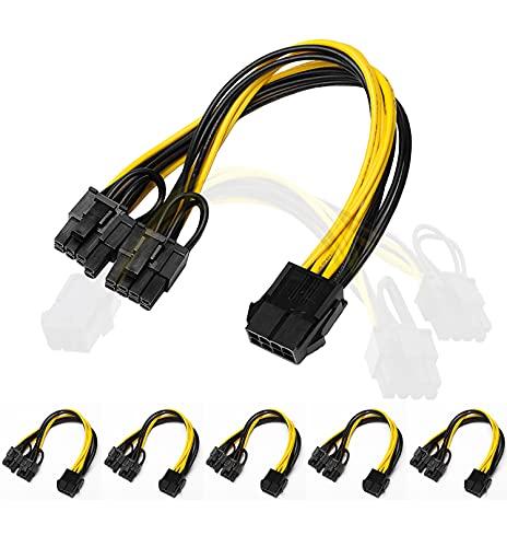 Ubit CPU PCIE de 8 Pines a Doble Cable de Alimentación Divisor...
